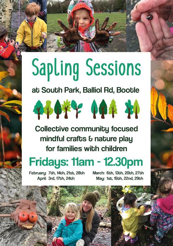 saplings session leaflet design