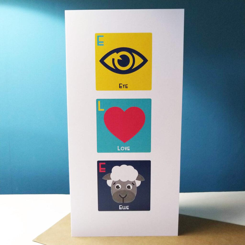 Eye Love Ewe Card