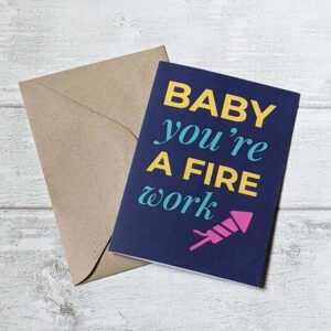 baby you're a firework card navy
